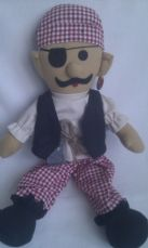 Adorable My 1st Big 'Pirate Ship Ahoy' Plush Doll